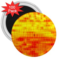 Bright Background Orange Yellow 3  Magnets (100 Pack)