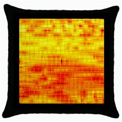 Bright Background Orange Yellow Throw Pillow Case (Black)