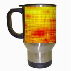 Bright Background Orange Yellow Travel Mugs (White)