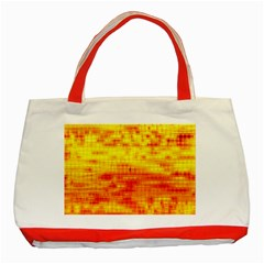 Bright Background Orange Yellow Classic Tote Bag (red)