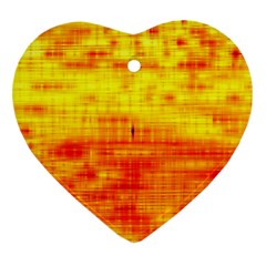Bright Background Orange Yellow Heart Ornament (Two Sides)