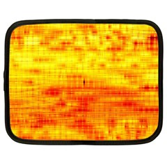 Bright Background Orange Yellow Netbook Case (large)