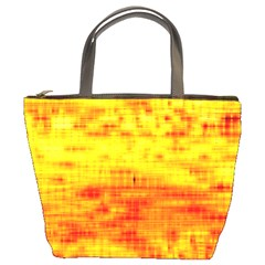 Bright Background Orange Yellow Bucket Bags