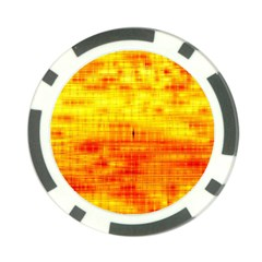 Bright Background Orange Yellow Poker Chip Card Guard (10 Pack)