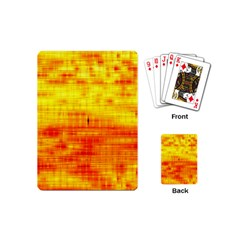 Bright Background Orange Yellow Playing Cards (mini)