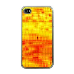 Bright Background Orange Yellow Apple iPhone 4 Case (Clear)