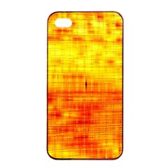 Bright Background Orange Yellow Apple iPhone 4/4s Seamless Case (Black)