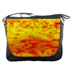 Bright Background Orange Yellow Messenger Bags
