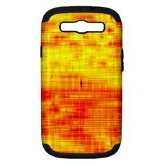 Bright Background Orange Yellow Samsung Galaxy S III Hardshell Case (PC+Silicone)