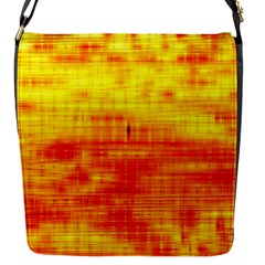 Bright Background Orange Yellow Flap Messenger Bag (S)