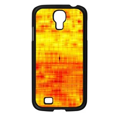 Bright Background Orange Yellow Samsung Galaxy S4 I9500/ I9505 Case (Black)