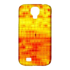 Bright Background Orange Yellow Samsung Galaxy S4 Classic Hardshell Case (PC+Silicone)