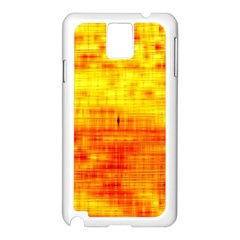 Bright Background Orange Yellow Samsung Galaxy Note 3 N9005 Case (White)