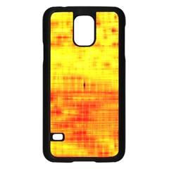 Bright Background Orange Yellow Samsung Galaxy S5 Case (Black)