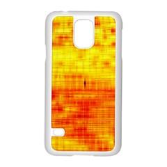 Bright Background Orange Yellow Samsung Galaxy S5 Case (White)