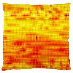 Bright Background Orange Yellow Large Flano Cushion Case (Two Sides)