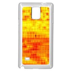 Bright Background Orange Yellow Samsung Galaxy Note 4 Case (white)