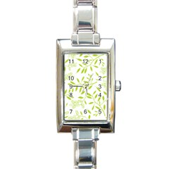 Leaves Pattern Seamless Rectangle Italian Charm Watch