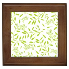 Leaves Pattern Seamless Framed Tiles