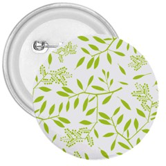 Leaves Pattern Seamless 3  Buttons