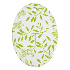 Leaves Pattern Seamless Ornament (Oval)
