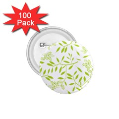 Leaves Pattern Seamless 1.75  Buttons (100 pack)