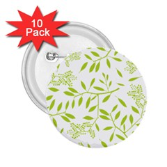 Leaves Pattern Seamless 2.25  Buttons (10 pack)