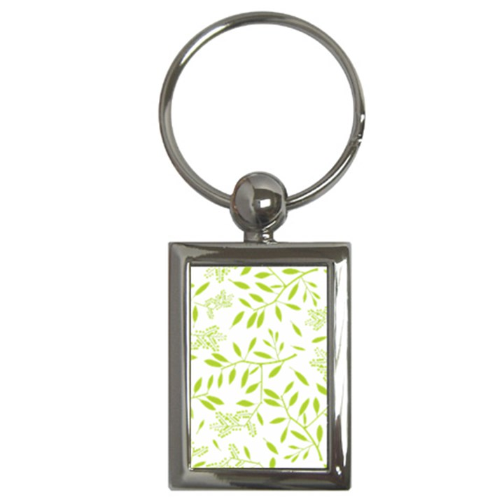 Leaves Pattern Seamless Key Chains (Rectangle)