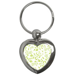 Leaves Pattern Seamless Key Chains (Heart)