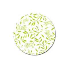 Leaves Pattern Seamless Magnet 3  (Round)