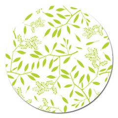 Leaves Pattern Seamless Magnet 5  (Round)