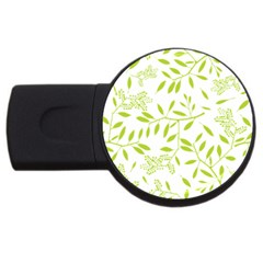 Leaves Pattern Seamless Usb Flash Drive Round (2 Gb)