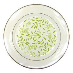 Leaves Pattern Seamless Porcelain Plates