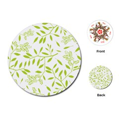 Leaves Pattern Seamless Playing Cards (Round)