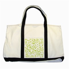 Leaves Pattern Seamless Two Tone Tote Bag