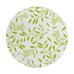 Leaves Pattern Seamless Round Ornament (Two Sides)