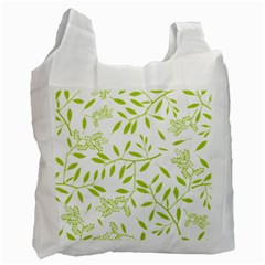 Leaves Pattern Seamless Recycle Bag (two Side)