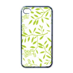 Leaves Pattern Seamless Apple Iphone 4 Case (black)