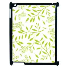 Leaves Pattern Seamless Apple iPad 2 Case (Black)