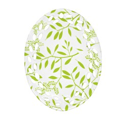 Leaves Pattern Seamless Oval Filigree Ornament (Two Sides)