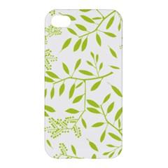 Leaves Pattern Seamless Apple iPhone 4/4S Premium Hardshell Case