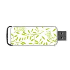 Leaves Pattern Seamless Portable USB Flash (Two Sides)