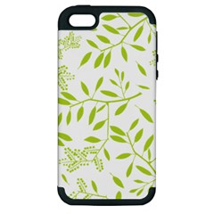 Leaves Pattern Seamless Apple iPhone 5 Hardshell Case (PC+Silicone)
