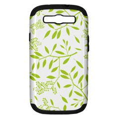 Leaves Pattern Seamless Samsung Galaxy S Iii Hardshell Case (pc+silicone)