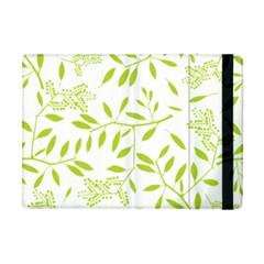 Leaves Pattern Seamless Apple iPad Mini Flip Case