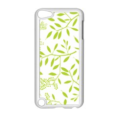 Leaves Pattern Seamless Apple iPod Touch 5 Case (White)