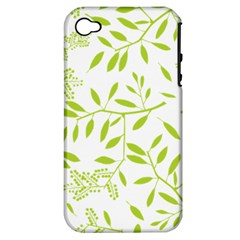 Leaves Pattern Seamless Apple iPhone 4/4S Hardshell Case (PC+Silicone)