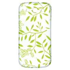 Leaves Pattern Seamless Samsung Galaxy S3 S III Classic Hardshell Back Case