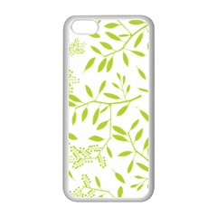 Leaves Pattern Seamless Apple iPhone 5C Seamless Case (White)