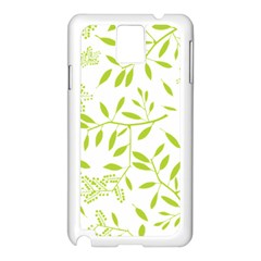 Leaves Pattern Seamless Samsung Galaxy Note 3 N9005 Case (white)